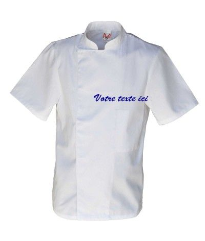 Veste de cuisine personnalis e broderie rapide sur - Broderie veste de cuisine ...