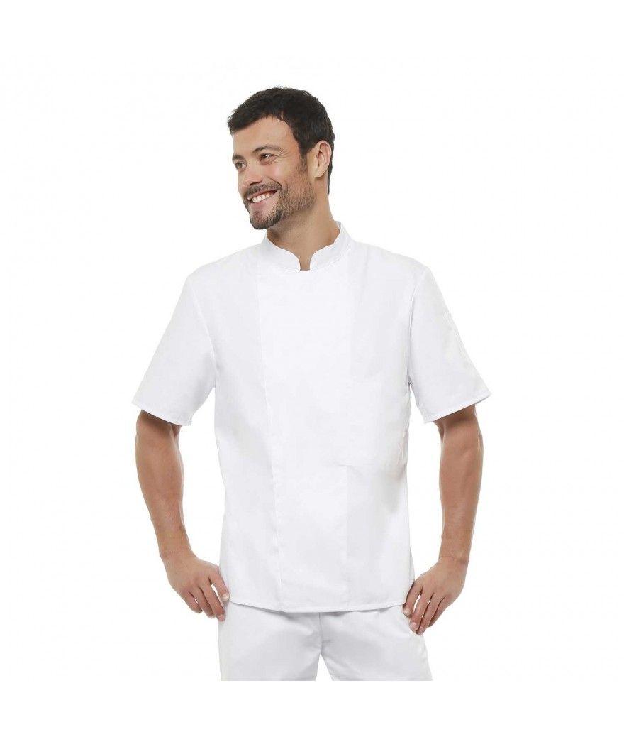 veste de cuisine blanche manches courtes pas ch re mod le ratatouille. Black Bedroom Furniture Sets. Home Design Ideas