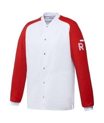 veste vintage blanc/rouge