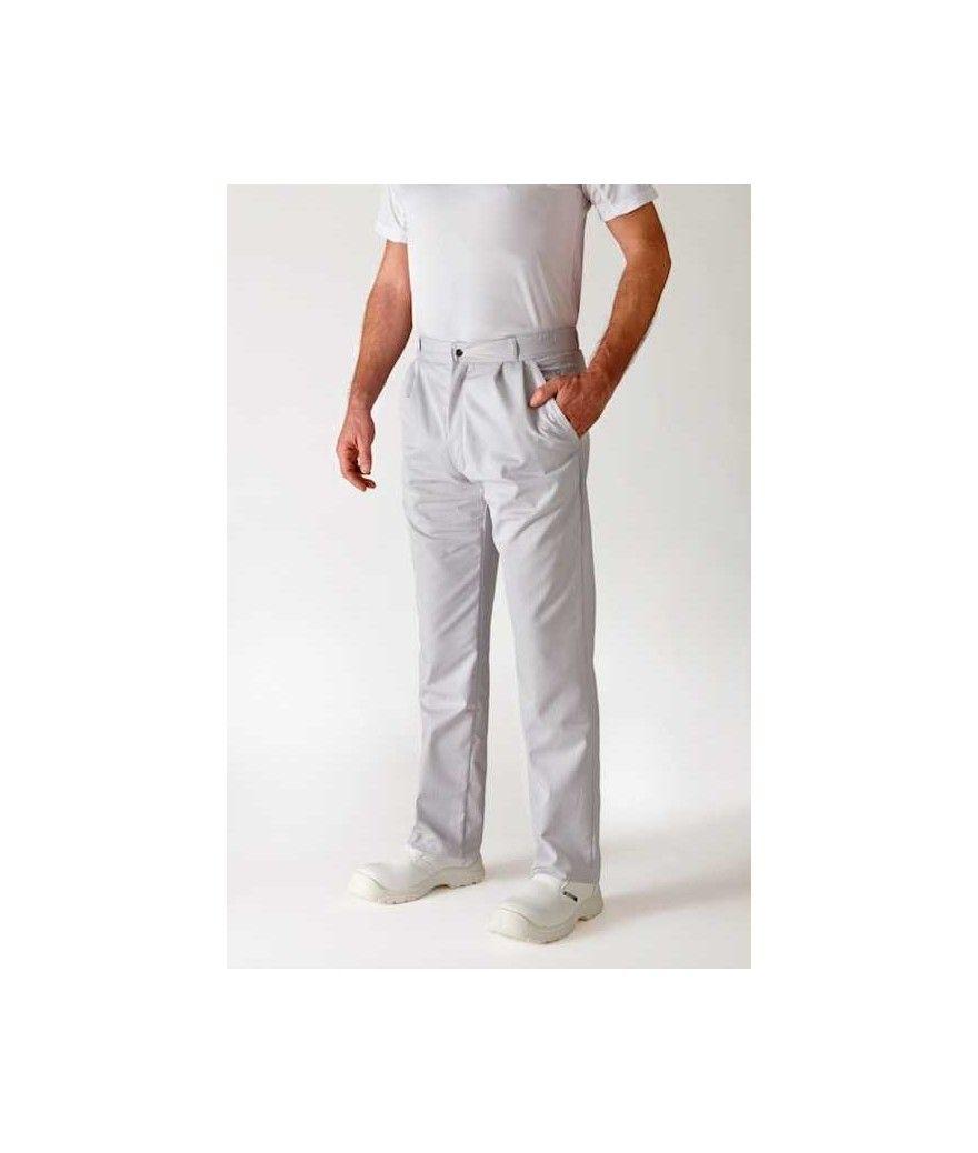 Pantalon alizé rayé gris