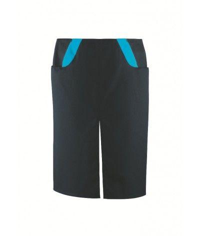 Tablier Venturi Noir/Turquoise