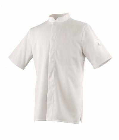 Veste de cuisine Balsa MC blanche