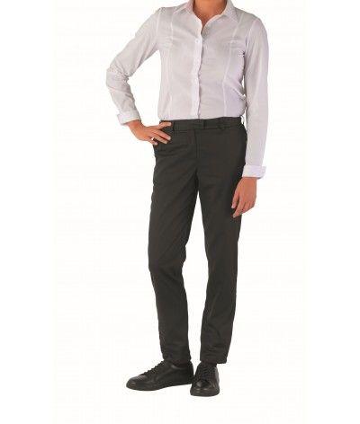 Pantalon de cuisine chino femme 37.5 CAMBIA Noir