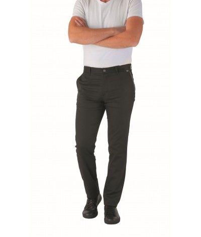 Pantalon de cuisine Chino homme 37.5 CADEN Noir