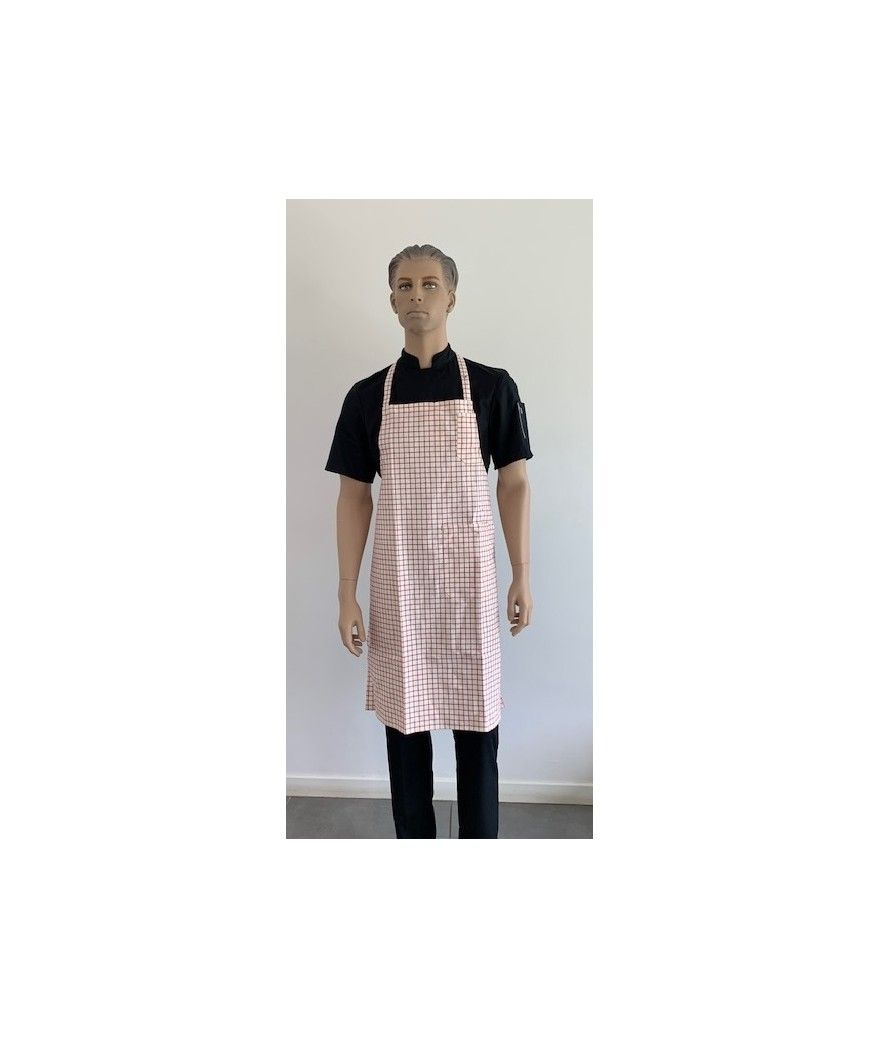 Tablier de cuisine à bavette CURCUMA rouge