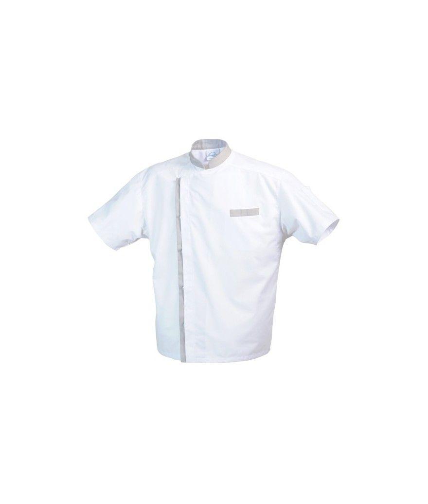 Veste de cuisine MAJORQUE MC Blanc/Gris