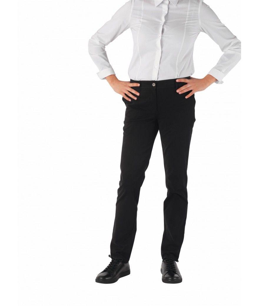 Pantalon de cuisine femme CHIARA noir