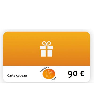 Carte Cadeau 90 €