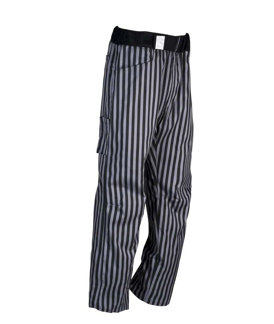 well known uk availability best wholesaler Pantalon noir ligné gris fabriqué par ROBUR