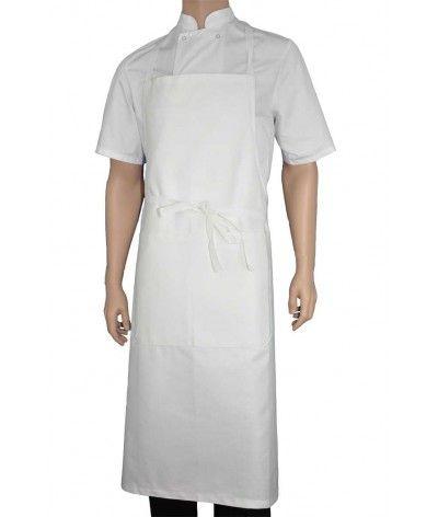 White bib apron