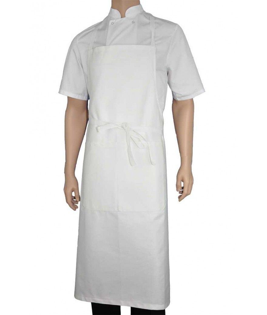tablier bavette blanc