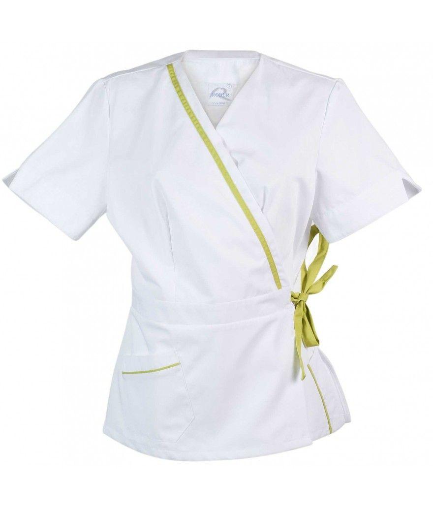 blouse Manéa courtes Blanc Pistache