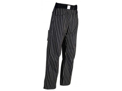 Pantalon de cuisine Robur,élastique et ceinture éponge,confort absolu.